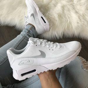 Brand New Nike Air Max 90 Ultra 2.0 White + Silver NWT